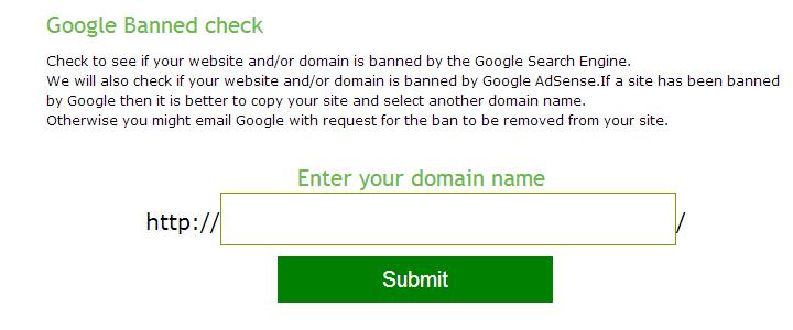 域名被谷歌K过查询工具