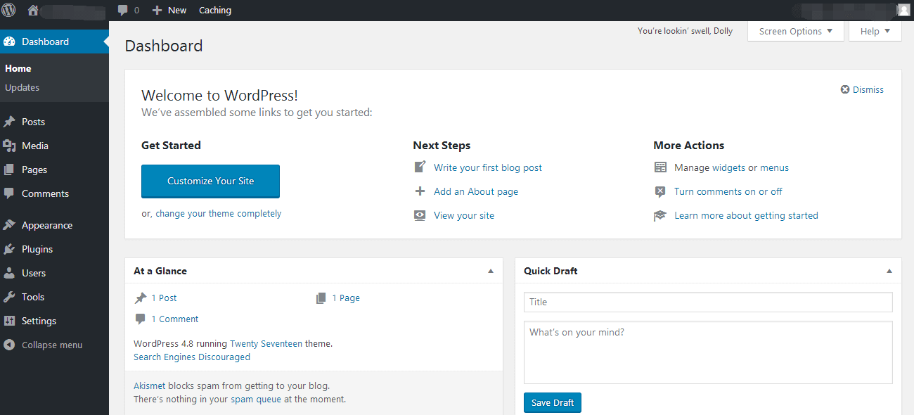 welcome to wordpress