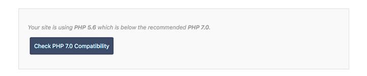 检查PHP 7的兼容性