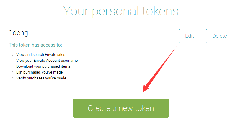 create a new token