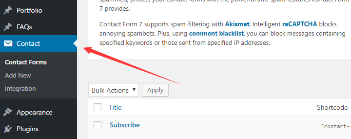 plugins contact