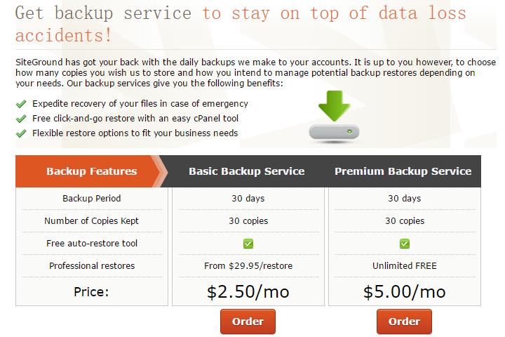 siteground backup service