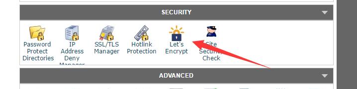 Let's Encrypt按钮