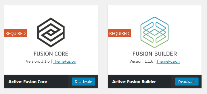Fusion Core and Fusion Builder plugins