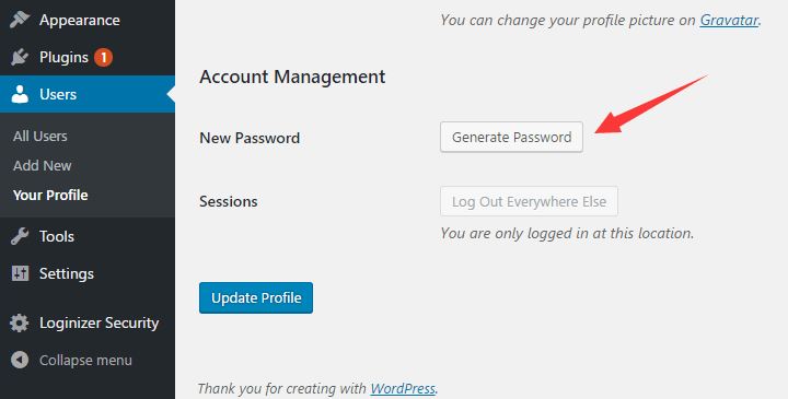 WP Account Management