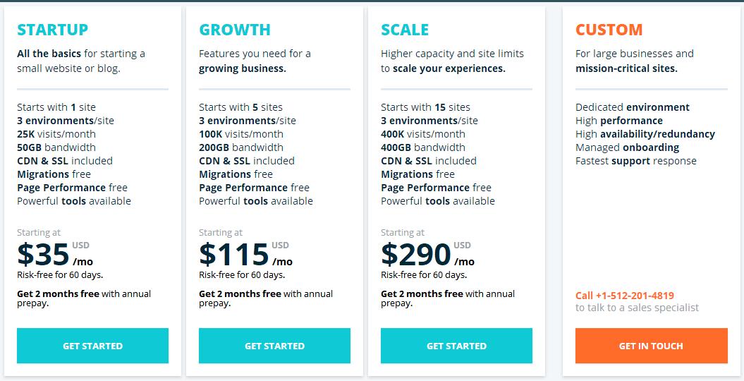 wpengine价格方案