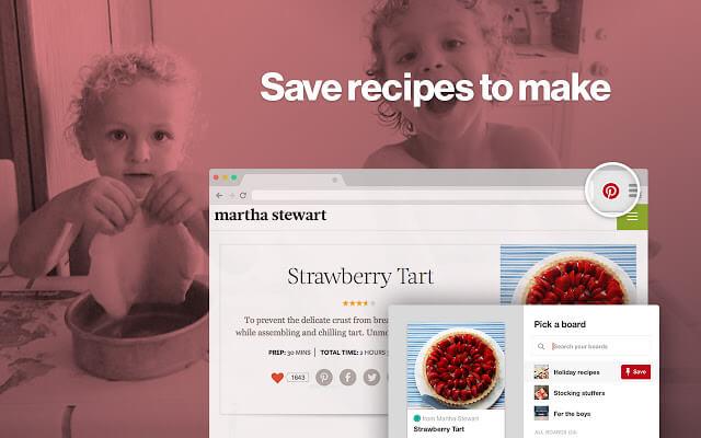 Pinterest Save Button chrome扩展