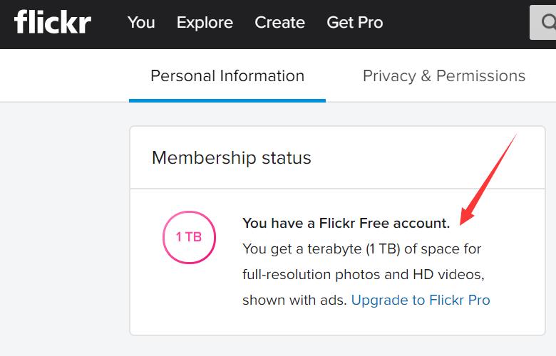 flickr 1T免费空间