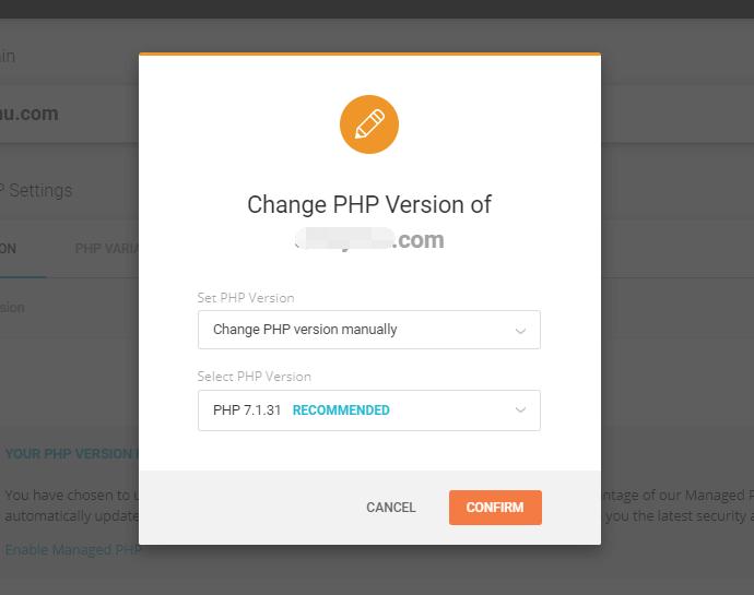 siteground php版本切换