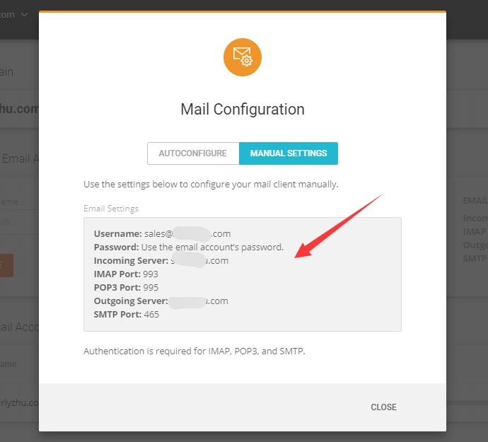 siteground邮箱参数配置