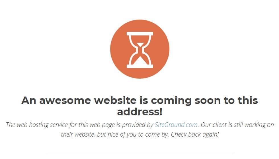 域名已绑定SiteGround主机