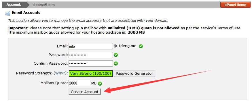 创建企业邮箱账号