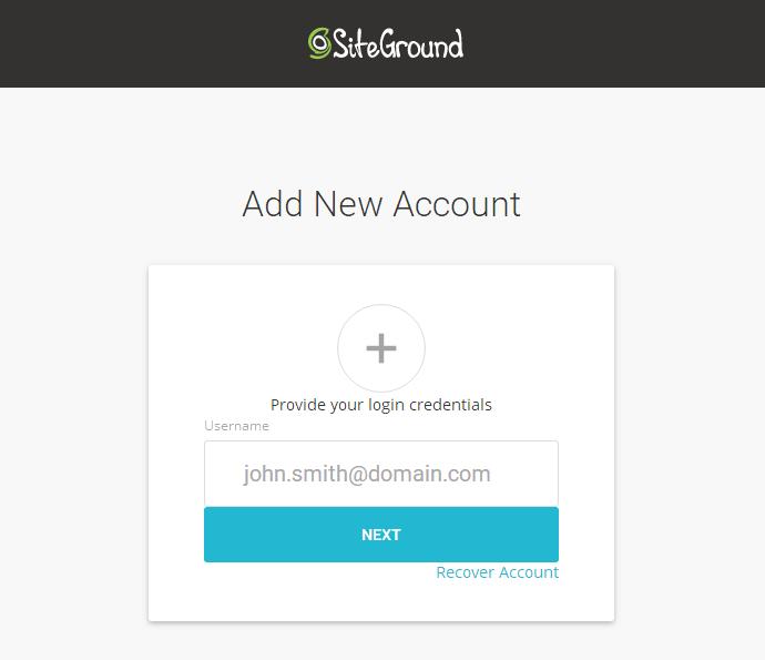 siteground新后台登陆地址