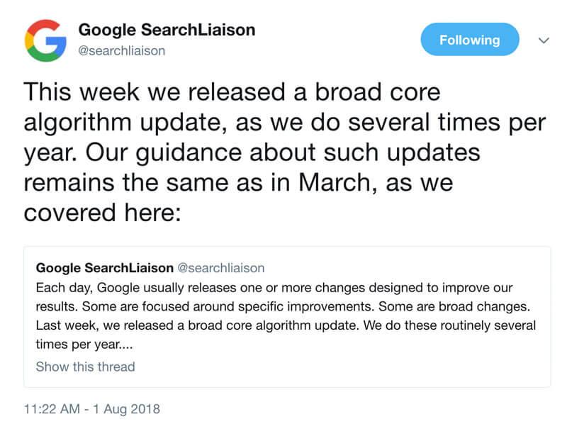 谷歌算法更新YMYL和EAT