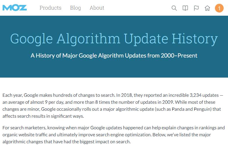moz谷歌算法更新