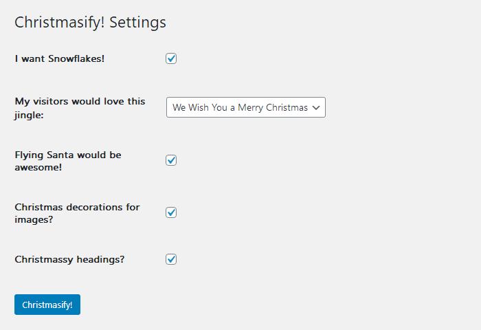 Christmasify设置