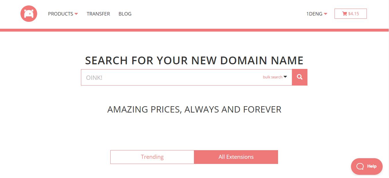 porkbun购买域名