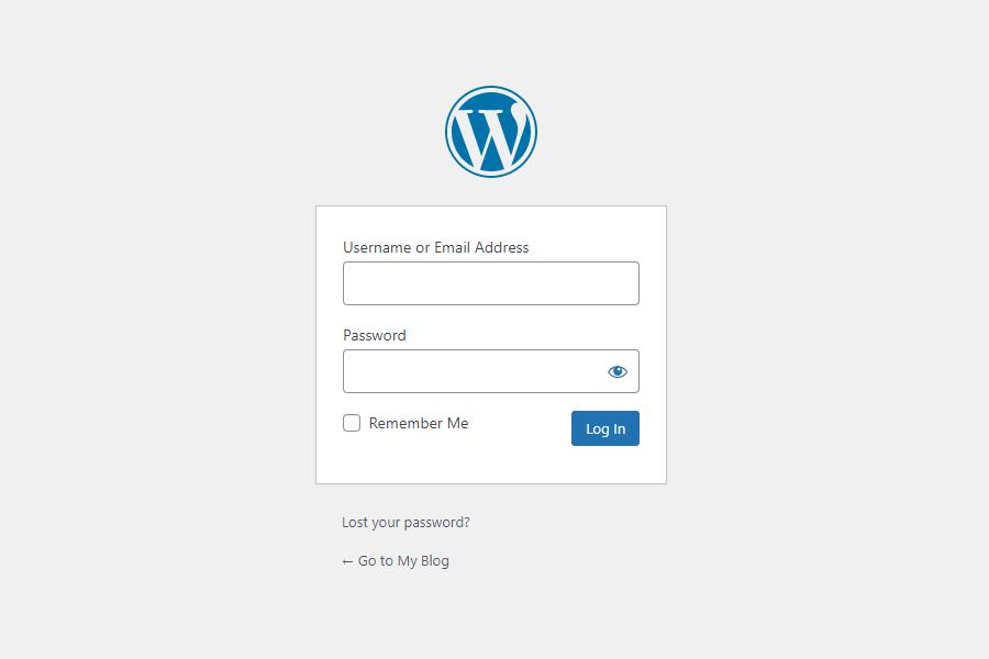 wordpress登陆页面