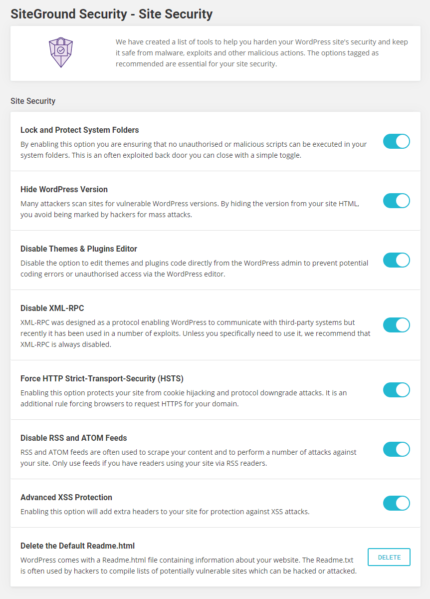 SiteGround Security - Site Security