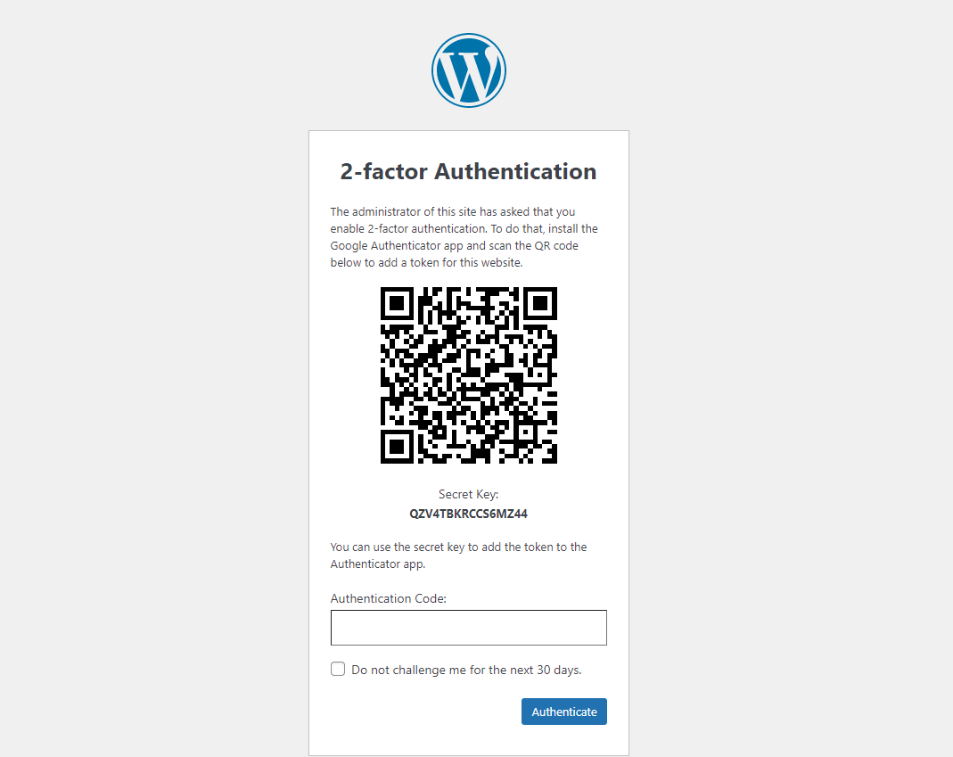 Two-factor Authentication for Admin & Editors Users